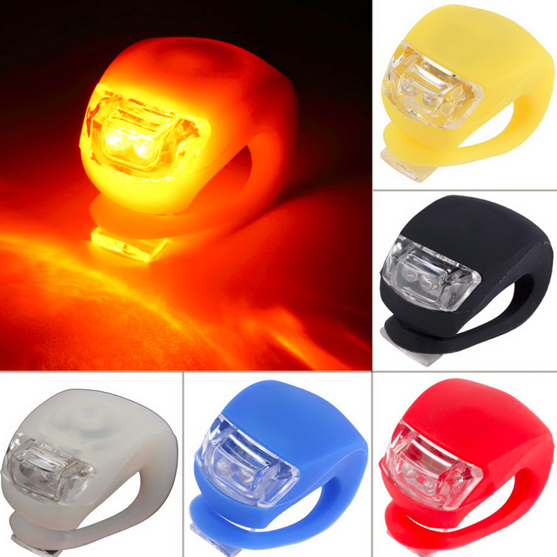 1 pc Wholesale Silicone Bike Bicycle Cycling Head Front Rear Wheel LED Flash Safety Light Lamp Free shipping Hot Selling(China (Mainland))