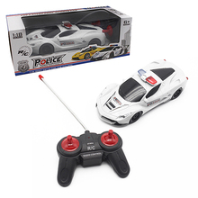 Boy toys 1:18 4CH Police RC Car Model Baby Toys 4Cchannels Remote Control Car Micro Racing Cars Kids Gifts Toys For Children(China (Mainland))