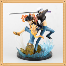 Anime One Piece Monkey D Luffy Trafalgar Law 5 Anniversary PVC Action Figure Collectible Model Toy 17cm