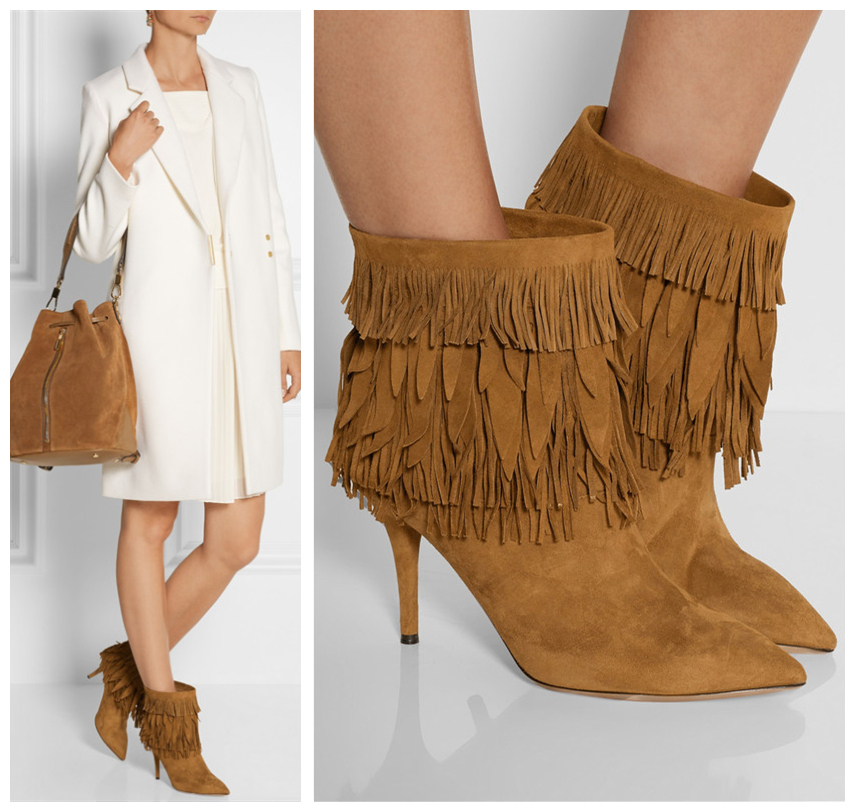 New Arrival Spring Autumn Women Boots Stylish Fringed Decor Motorcycle Ankle Boots Suede Leather Stiletto High Heels Shoes Woman(China (Mainland))