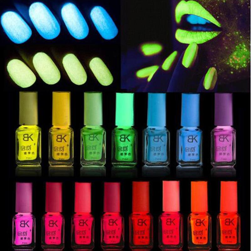 1pcs glow in the dark nail polish candy nail art varnish nail Lacquer neon nail lacquer luminous fluorescent(China (Mainland))
