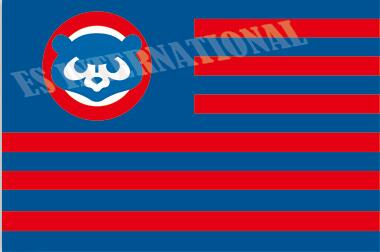 Chicago Cubs Flag With No Stars Stripes MLB Flag 3x5 ft custom Banner 90x150cm Sport flag Stainless Steel Grommets ES433(China (Mainland))