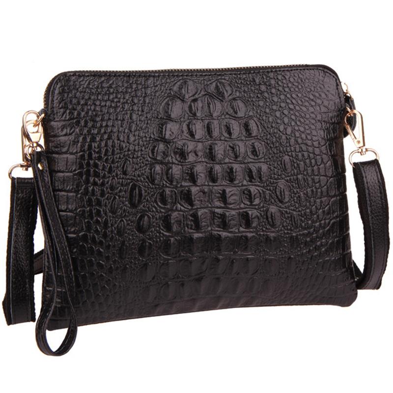 New fashion women messenger bag genuine leather shoulder crossbody bag Alligator handbag women clutch bag purse women wallets(China (Mainland))
