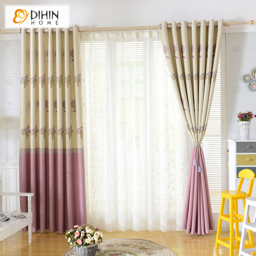 Dihin 1 Pc Ready Made Curtains Tree Pattern Curtains For Living Room Bay Window Curtains For