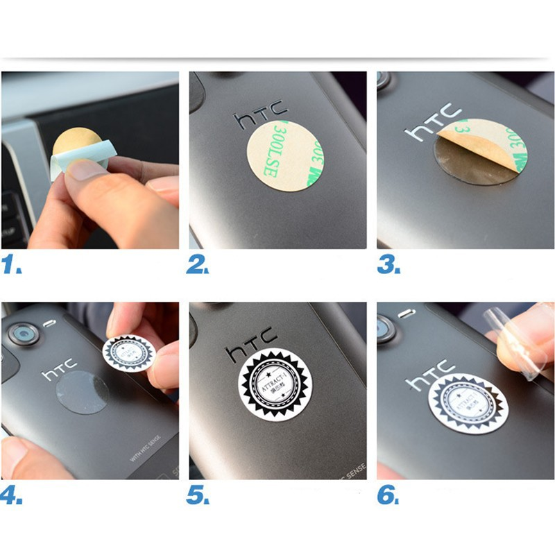 Magnetic rotary mobile phone car holder 10