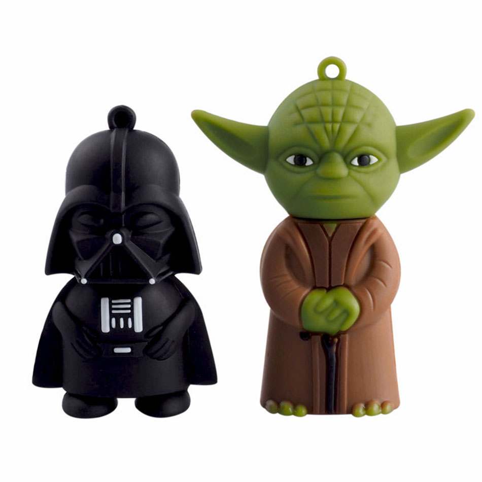 star wars yoda usb flash drive pen drive 4gb 8gb 16gb 32gb 64g dark darth vader drive flash. Black Bedroom Furniture Sets. Home Design Ideas