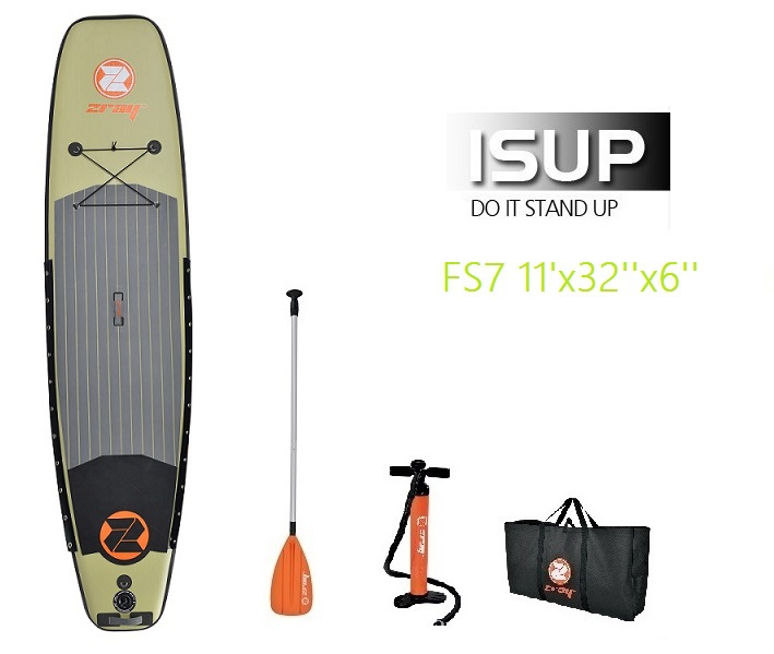 11ft Fishing Surf board Surfing Stand up paddle board Inflatable SUP Surfboard include oar inflation pump bag repair patch(China (Mainland))
