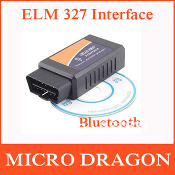 ELM327 Bluetooth OBD2 OBDII Car Auto Diagnostic Scanner Adapter Reader for iPhone5 iPad4 iOS PC