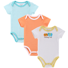 3 Pieces lot Baby Romper Girl and Boy Short Sleeve Leopard Print Summer Clothing Set for