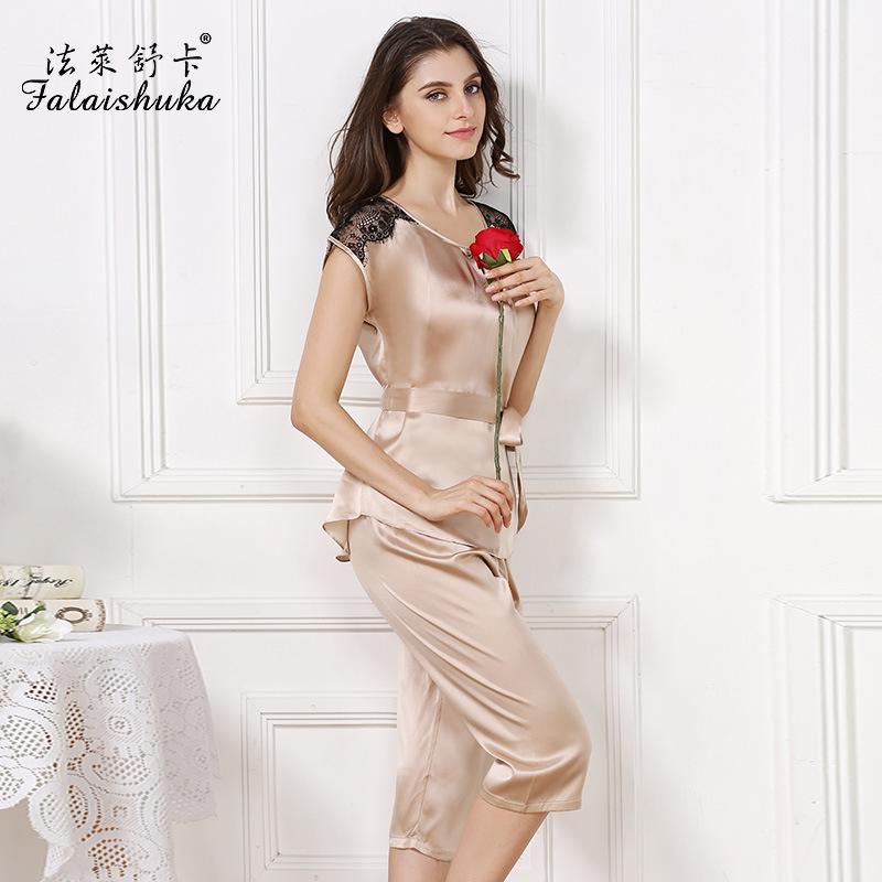 Popular Silk Pajama Top-Buy Cheap Silk Pajama Top lots from China ...