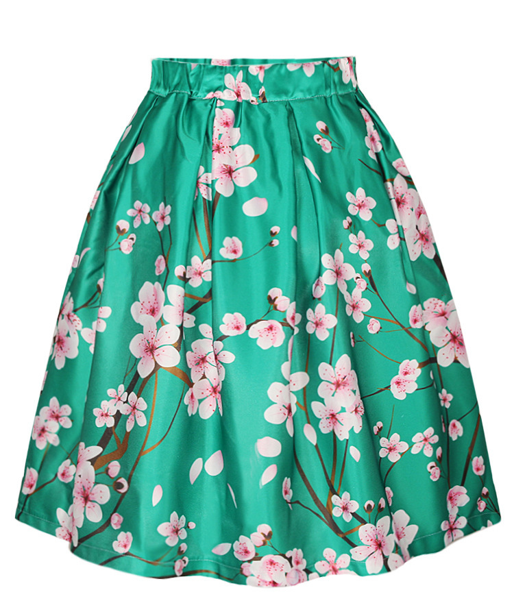 high waisted skirts womens faldas vintage blossom