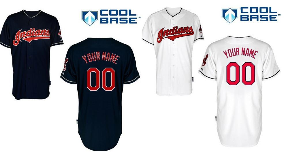Custom jersey baseball Cleveland Indians mlb Personalized Cool Base Personalized Baseball Jerseys Cheap Embroidery(China (Mainland))