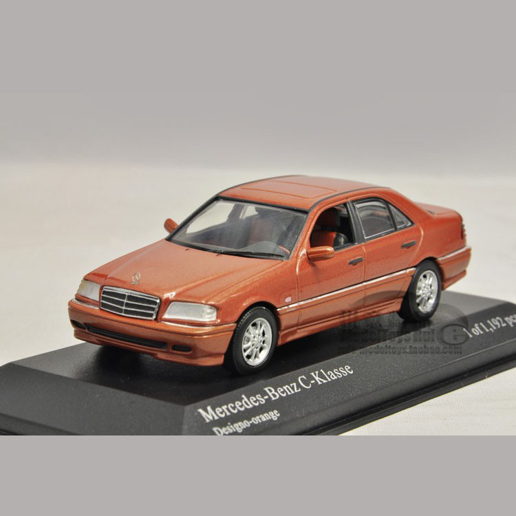 1:43 Minichamps Benz C cut the orange mini car model(China (Mainland))