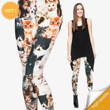 leggings print 3d cats Lovely cat woman pants(China (Mainland))