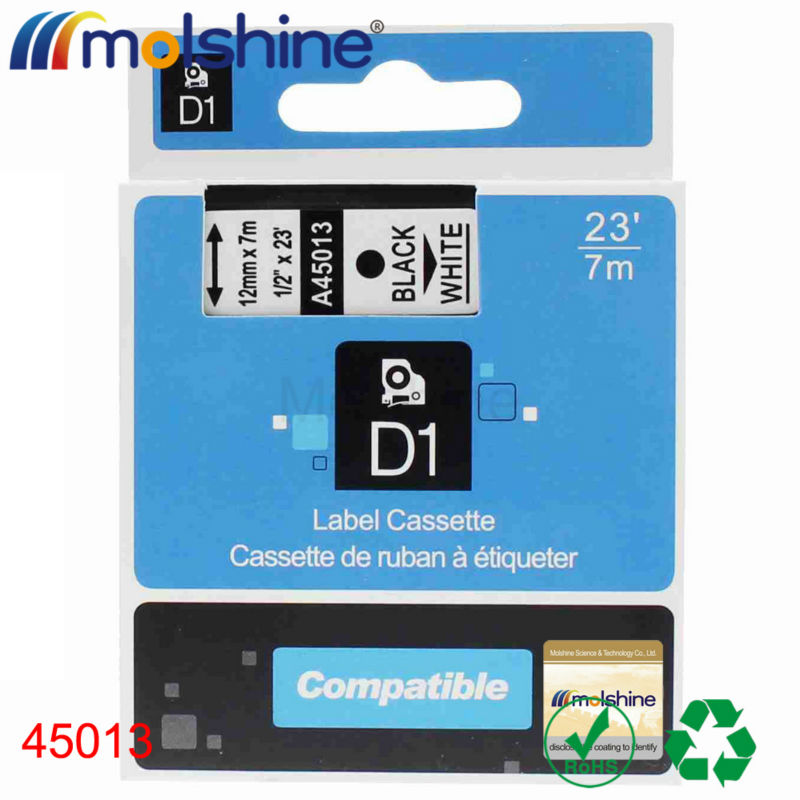 Molshine 20pcs Compatible Label Tape for DYMO 45013 Black on White (0.47 1/2 12mm) 7m<br><br>Aliexpress