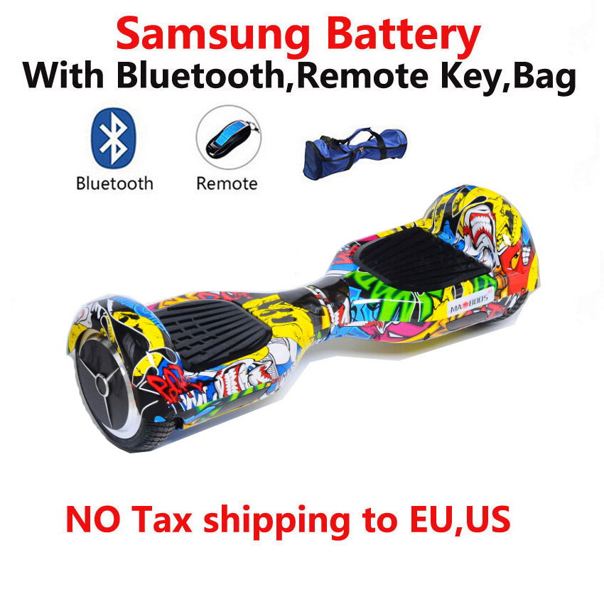 MAOBOOS 6.5 inch electric hoverboard 16 Colors 2 Wheel Smart Scooter SMbattery/Bluetooth/Remote/Bag Electric Unicycle Skateboard<br><br>Aliexpress