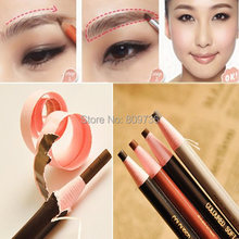 1PC Hot Sell New 4 Colors Long Lasting Eyebrow Pencil Eye Brow Pen Dark Light/Dark Coffee Black makeup Women Beauty