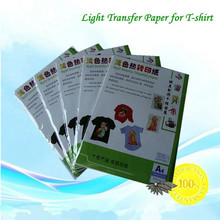 Free 10*A4 Light Laser Transfer Paper T shirt Fabric Wholesale Thermal Transfers Printing Paper With Heat Press Laser Printer(China (Mainland))