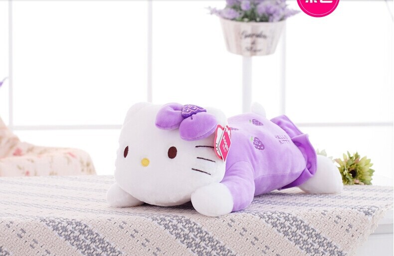 big lovely kitty pillow stuffed purple grapes kitty toy plush cat doll pillow birthday gift about 55cm<br><br>Aliexpress