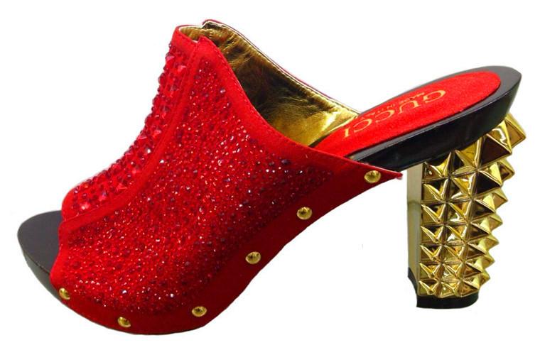 Open toe heels Lady Italian fashion womens fine shining diamond wedge shoes and bag set 2015 free shipping wine color(China (Mainland))