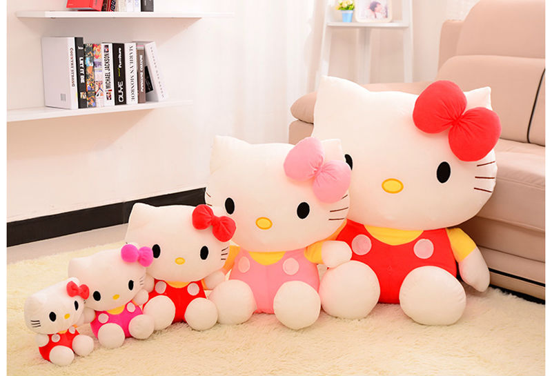 big size 80cm 100cm Hello Kitty, plush toys for children kids baby toy,lively lovely doll hello kitty toy (3color for choice)(China (Mainland))