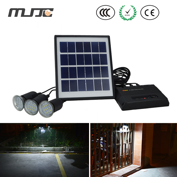 MJJC 1PC high bright waterproof portable 4w Solar lamp mobile light power supply light for camping/fishing/outdoor activity(China (Mainland))