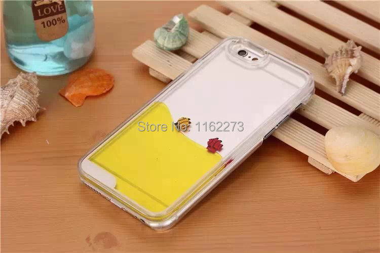 Brand New Dynamic Liquid Magical Flowing Water Injected Case Aqua Fish Case for iPhone 6 4.7 Inch Freedom Ocean Case(China (Mainland))