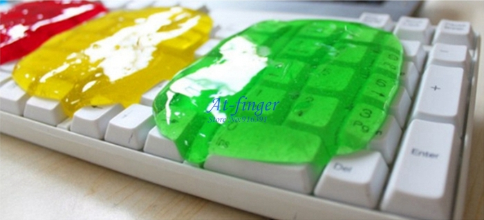 Hot New Magic Crystal Keyboard Clean Glue Computer Compound Clean Slimy Magic Gel FREE SHIPPING(China (Mainland))