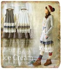 Mori Girl Lace Layer Lolita Ruffles Maxi Pleated Dress Loose Casual Tunique Hippie Boho Vestido Oncinha Mori Lolita Clothing(China (Mainland))