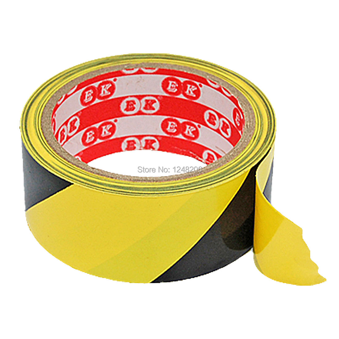 A Roll Yellow Black Plastic Adhesive Tape for Envelop Office School Discount 50(China (Mainland))