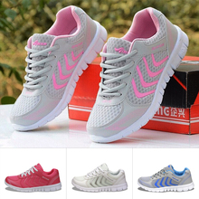 2016 Newest Summer Style Lightweight Women Walking Mesh Canvas Shoes Casual Ladies Slip On Flat Shoes breathable Tenis Feminino(China (Mainland))