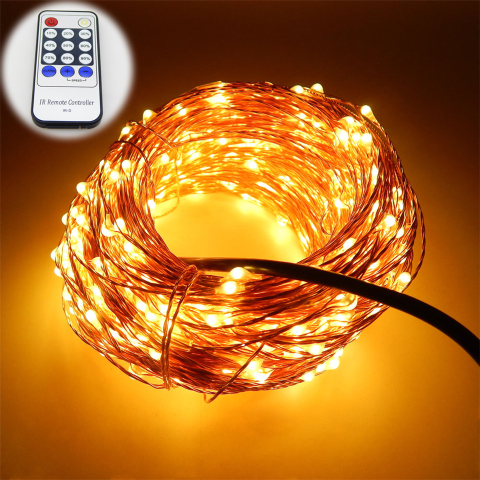 7 colors 20m 65ft 200 leds copper wire led string light. Black Bedroom Furniture Sets. Home Design Ideas