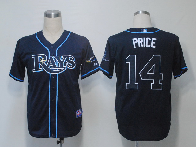 Cheap Mens Tampa Bay Rays Jersey #14 David Price Blue Baseball Jersey ,embroidered Logo,accept retail mixed order<br><br>Aliexpress