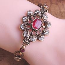 Hot Selling Classic Loyal Turkey Ruby Acrylic Bangles Jade Vintage Bijoux Bracelet Bangle Accessories Sapphire Turkish Jewelry(China (Mainland))