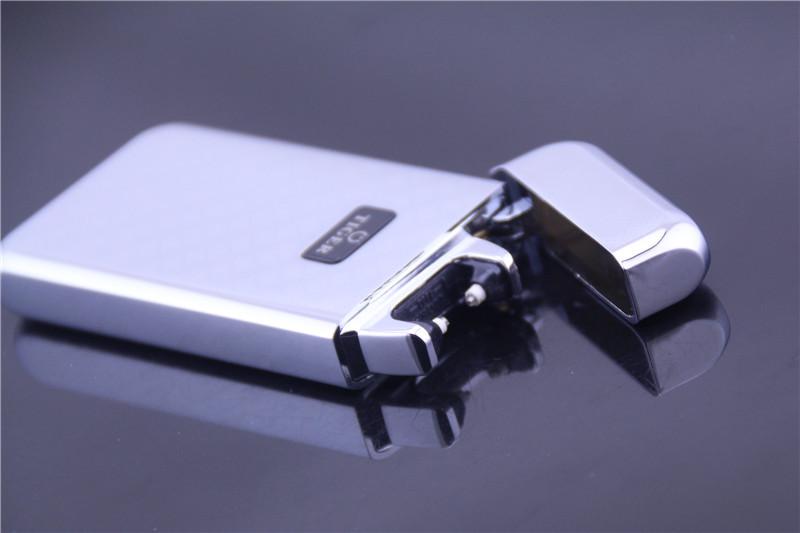 ถูก 2016เบา909 windproofโลหะบางเฉียบชีพจรชาร์จusbบุหรี่อิเล็กทรอนิกส์เบาเบาจัดส่งฟรี