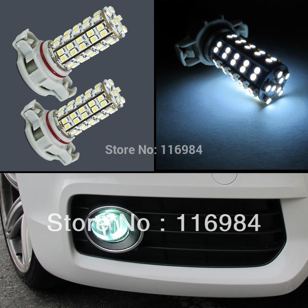 2pcs x Super White H16 5202 9009 PS24WFF Ultra 68-SMD LED Driving Fog Light Bulbs A1(China (Mainland))