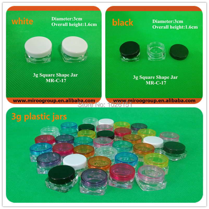 Fedex Free Shipping 100pcs 3ml/3g cream jar,3g cosmetic container, plastic bottle,3g sample jar, cosmetic packaging,display case<br><br>Aliexpress
