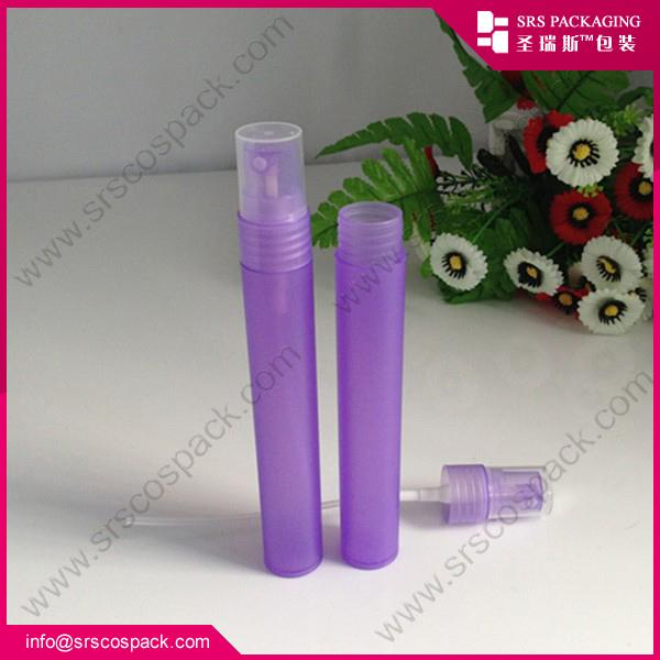 Plastic mist spray bottle , manufacturer wholesale fashion plastic purple perfume atomizer 30 ml for body care(China (Mainland))