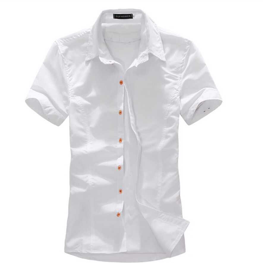2015 new brand fashion mens dress shirts short sleeve for Mens short sleve dress shirts