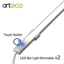 2PCS DC12V Touch Sensor LED Bar light Dimmable 50cm 36LEDs Ultra thin LED Tude Rigid light white/warm white(China (Mainland))