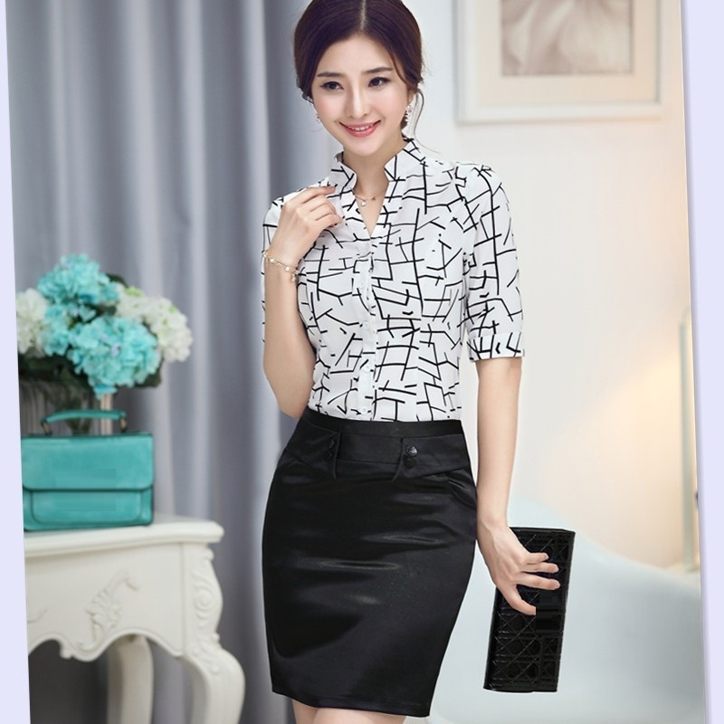 Blouse And Skirt Formal - Smart Casual Blouse