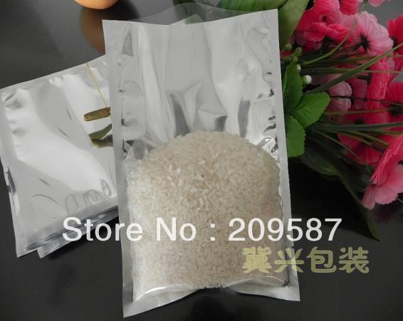 200pcs 14x20 cm Transparent-Silver Aluminum Foil Poly Vacuum Sealer Bag Food(China (Mainland))