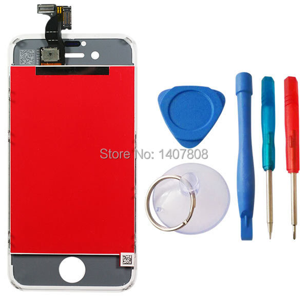 For iPhone 4S screen White Replacement LCD Display Touch Screen Digitzer With Tool Sets Fast Shipping Fome USA UK AUD warehouse(China (Mainland))