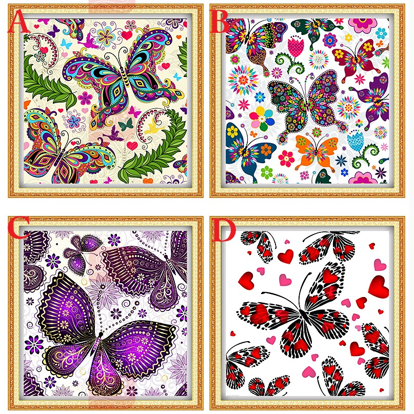 New Diy diamond painting cross stitch Animals Butterfly Full square Rhinestone diamond Mosaic embroidery Romantic Gift for lover