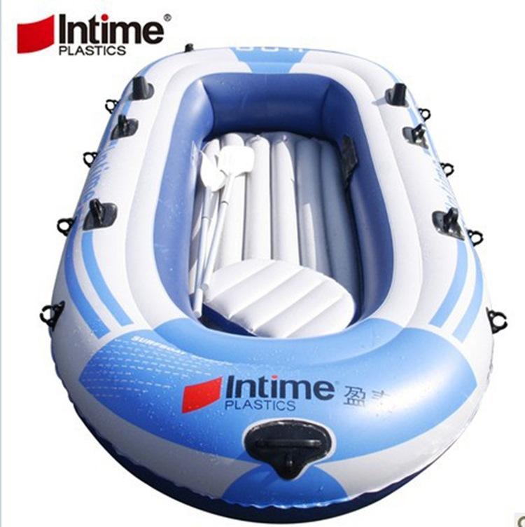 Brand Fishing Rowing Boat Inflatable Kayak Oars Pump Seat Alumnium Swim Travel Rafts 231cm*130cm(China (Mainland))
