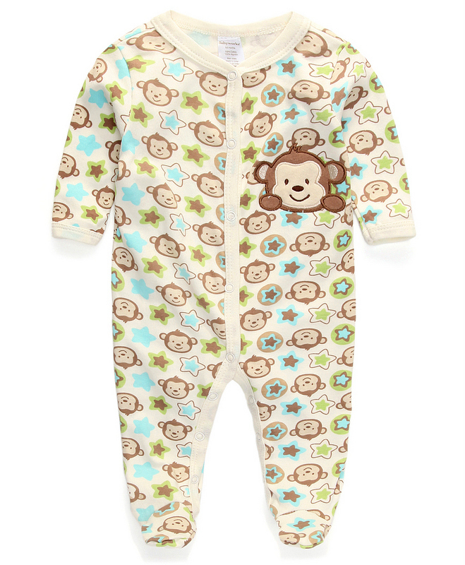 newborn clothes baby girls rompers spring and autumn baby rompers pink bear butterfly cake heart pattern infant clothing(China (Mainland))
