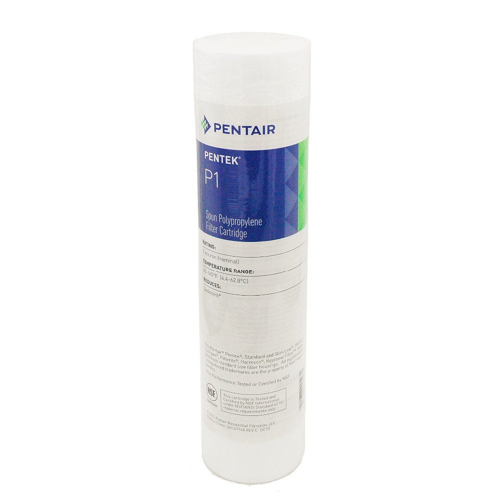 "2.5""x10"" Polypropylene Spun Bonded 1 Micron Water Filter Cartridge P1 Pentair PP Water Purifier(China (Mainland))"