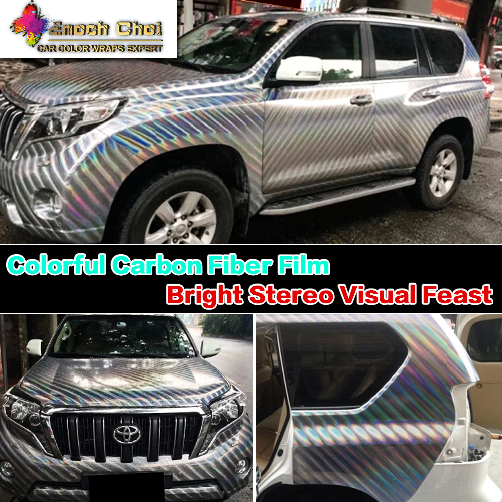 enoch choi new car wrapping colorful laser carbon fiber film auto interior exterior decoration. Black Bedroom Furniture Sets. Home Design Ideas