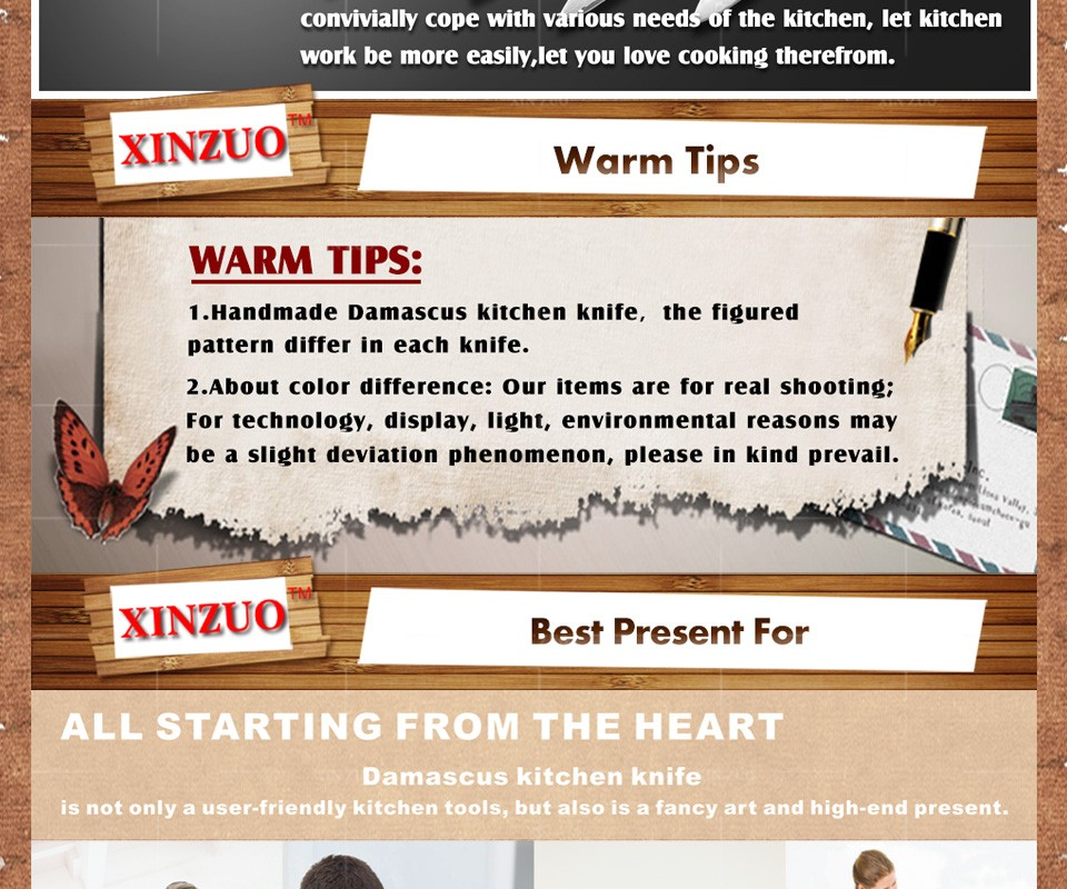 Buy XINZUO 5 pcs Kitchen knives set Japanese Damascus kitchen knife surper sharp chef cleaver knife Color wood handle free shipping cheap
