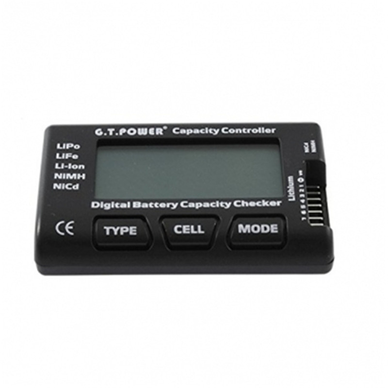 GT Power Lipo Battery Capacity Check Tester With Balance Function for LiPo LiFe Li-ion NiMH Nicd For RC Plane Helicopter Models(China (Mainland))